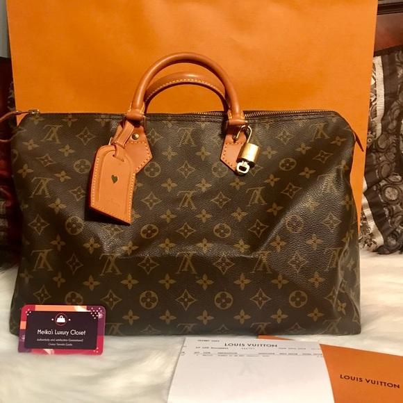 Louis Vuitton Handbags - Louis Vuitton Speedy 40 w repair receipt monogram 56f9764fa3c54